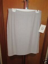 """NEW WITH TAGS ST. JOHN BY MARIE GRAY """" HEATHER GREY"""" SKIRT SIZE 12"""