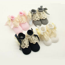 Lace Baby Girls Ankle Socks Cotton Infant Calcetines Bowknot Kids Short Socks