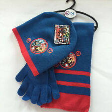 Lot Avengers knit beanie hat children winter knitted  scarf gloves hat set R343