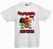 PERSONALISED CHILDRENS  KIDS T SHIRT*ANY NAME *angry birds birthday dude any age