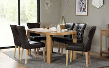 Winchester Oval Oak Dining Room Table & 4 6 Bewley Leather Chairs Set (Brown)