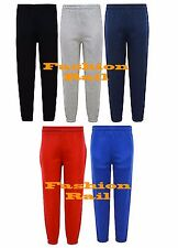 NEW KIDS BOYS GIRLS ELASTICATED FLEECE JOGGING BOTTOMS PE SPORT AGE 2-13 YRS