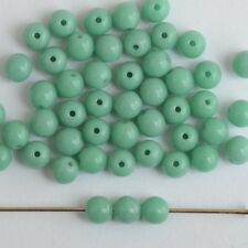 Druk Round Green 3 4 6 mm Turquoise 63130 Round Czech Glass Beads