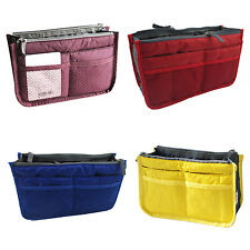Dual Bag Organizer Mp3 Phone Cosmetic Book Storage Nylon Bag Purse V6P1