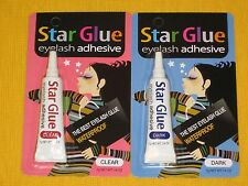 2X Star Glue Eyelash Adhesive Glue Dark/Clear Adhesive 7g 0.1/4oz: Made in Korea