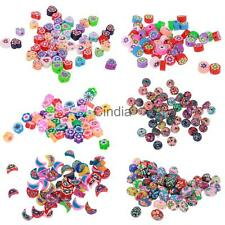 50pcs Vary Shape Polymer Clay Beads Charms for Jewelry Making DIY Craft Findings
