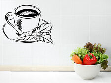Wall Vinyl Decal Sticker Tea Cup Coffee Cup Cute Decor Cafe Kitchen (z4583)
