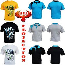 New Designer Patch HNL Projection Mens Casual Wear Crew &Collar Neck T Shirt TOP