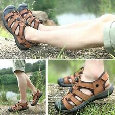 Summer Mens Outdoor Sport Sandals Closed Toe Fisherman Casual flat beach Shoes