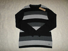 DKNY JEANS SWEATER MENS SIZE XL CREWNECK MULTI- COLOR LONG SLEEVES NEW NWT