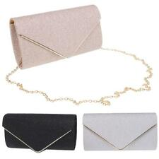 Women Lady Sequined Evening Envelope Clutch Bag Purse Chain Shoulder Bag Handbag