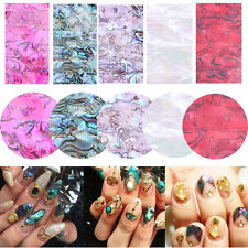 5Colors Natural Shell Japan Style 3D Shell Sticker Nail Art Decoration DIY Decal