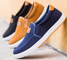 Men's Driving Shoes Canvas shoes Breathable Slip-on Casual Fashion Sneakers New