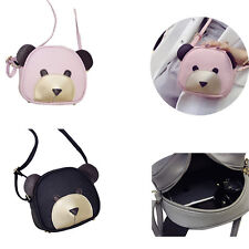1Pcs Cute bear face Handbags PU Leather 2017 Shoulder Bag Girl's Women