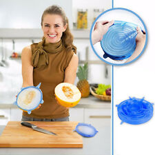 6Pcs/Set Silicone Lids Fresh Keeping Storage Bowl Cup Cling Cover Kitchen Tool