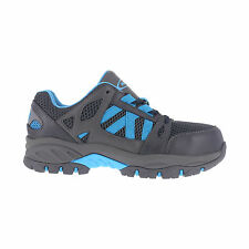 Knapp Womens Blue Leather Work Shoes ST Oxford Athletic
