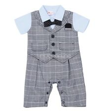 Infant Baby Boys Gentleman Suit Wedding Tuxedo Toddler Party Formal Outfits Set
