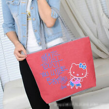 New Women Girl Hellokitty Canvas Shopping / Tote bag Purse Handbag AA89CB
