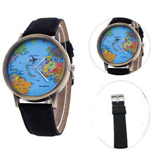 World Map Casual 1Pcs Watches Leather Lovers Quartz Imitation Cowboy Watches