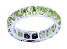Peridot 925 Sterling Silver Ring exporter Green excellent AU K,M,O,Q