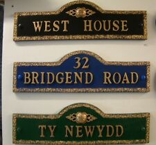 PERSONALISED HOUSE NUMBER NAME PLAQUE SIGN
