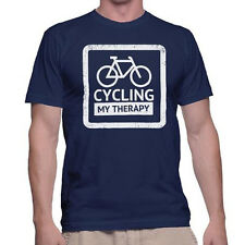 Cycling, My Therapy American Apparel T-Shirt Mens Funny Bicycle Cycling Shirt
