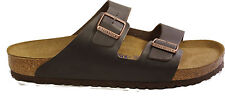 BIRKENSTOCK 0551031 ARIZONA dark brown leather REGULAR WIDE - SOFT FOOTBED NEW