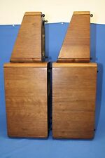 M&K Satellite Boxes Empty for-1B Miller and Kreisel Nice Wood Grain