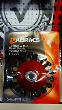 Abracs wire brush cup type twist knot 70mm,95mm,120mm, bevel type 100mm