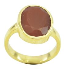 Red Onyx Gold Plated Ring grand Red jewelry AU gift