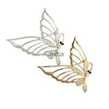 Fashion Glitter Crystal Butterfly Charms Brooches Pins Jewelry Ornaments