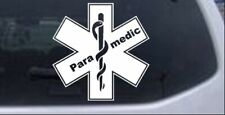 Paramedic EMT Star Of Life Car or Truck Window Laptop Decal Sticker