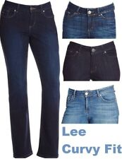 Lee Womens Jeans Curvy Fit Modern Bootcut Jean No Gap Waistband Variation NEW
