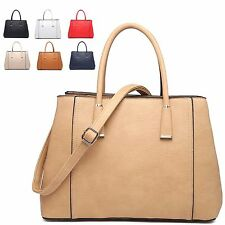 Ladies Designer Faux Leather Style Handbag Shoulder Summer Grab Bag Tote MA34813