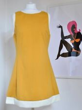 """Mod Scooter 1960s Vintage style """"Dusty"""" Dress by Pop Boutique, mustard yellow"""
