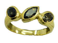 Smoky Quartz Gold Plated Ring winning Brown exporter AU K,M,O,Q
