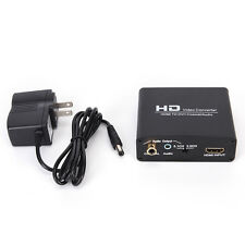 1080P HD Video HDMI to DVI Coaxial Audio Converter Adapter Box For PS4 EW