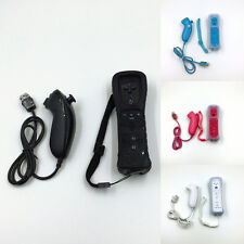 2 in1 Built in Motion Remote Controller +Nunchuck +Case Set Fit for Nintendo Wii