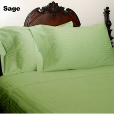 UK Double-Size 1200TC New Egyptian Cotton All Bedding Item Sage Striped