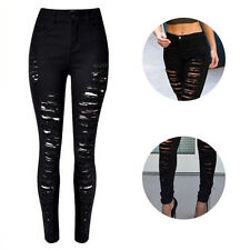 High Waist Sexy Trousers Ripped Jeans Hot Women Skinny Fashion Jeans Destroyed