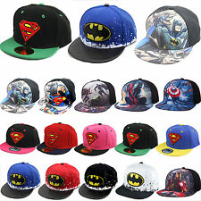 Boys Kids Adjustable Baseball Cap Superman Batman Sport Hip Hop Sun Hat SnapBack