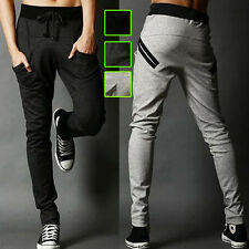 Mens Slim Fit Tracksuit Bottom Skinny Jogging Jogger Sweat Pants Casual Trousers