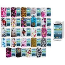 TPU Design Rubber Soft Cover Case+Screen Protector for Samsung Galaxy S3 S III
