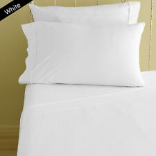 1200 TC Egyptian Cotton All Bedding Items UK-Small Double Size White Solid