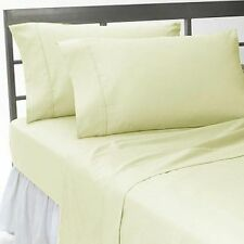 1200 TC Egyptian Cotton UK-Emperor Size Select Bedding Items Ivory Solid