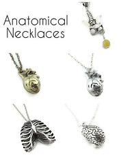 Anatomical necklace - heart - pelvis - brain - ribcage - medical quirky
