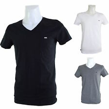 New DIESEL Basic Stretch T-Shirt V-Neck with Logo 3 Colors M XL Umtee-Michael