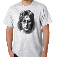 John Lennon The Beatles Imagine Double Fantasy Abbey Road Ash Gray Shirt