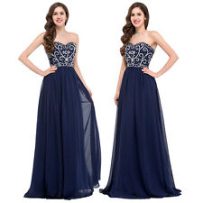 Women Formal Long Chiffon Evening Party Engagement Dress Bridesmaid Prom Gowns