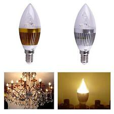 Popular E14 3W Warm White Dimmable LED Light Bulb Lamp 85-265V Candle Spotlight